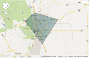 About Calibrating Air in Colorado Springs service area map
