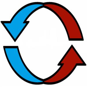 Calibrating Air arrows icon